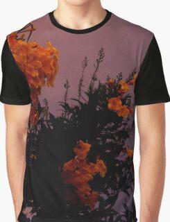 Twilight Flowers Graphic T-Shirt