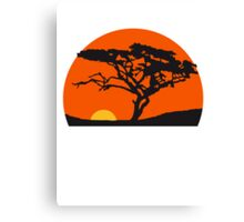Sundays Africa safari tree savannah wilderness Canvas Print
