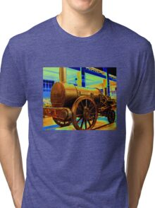Steam Locomotive Extra Bronze Tri-blend T-Shirt