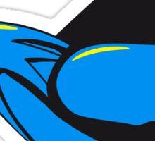 Vogel fliegen witzig  Sticker