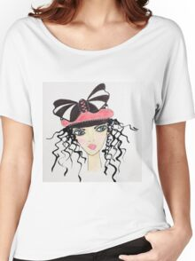 Fashion Hat Fancy Face Women's Relaxed Fit T-Shirt