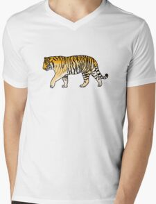 cute orange jungle tiger Mens V-Neck T-Shirt