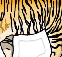 cute orange jungle tiger Sticker