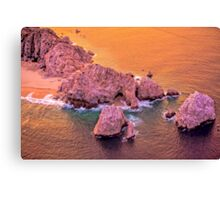 Fire in the Sky Sunset Over Lands End, Cabo San Lucas, Mexico Canvas Print