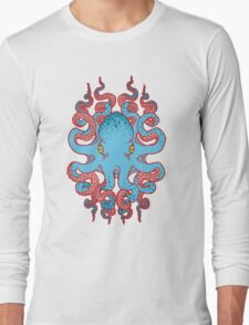 Twisted Tentacles - Red Long Sleeve T-Shirt