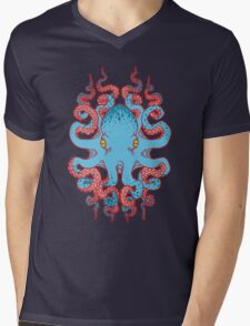 Twisted Tentacles - Red Mens V-Neck T-Shirt