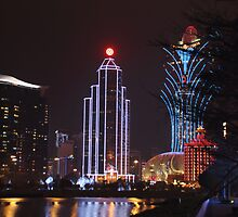 Macau by Night # 1 by Elisabeth Thorn