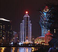 Macau by Night # 1 by Elisabeth Thorn