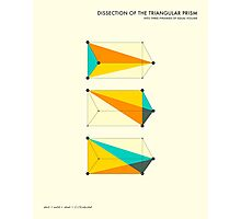 DISSECTION OF THE TRIANGULAR PRISM INTO 3 PYRAMIDS OF EQUAL VOLUME Photographic Print