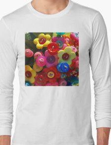 Button flower bouquet Long Sleeve T-Shirt