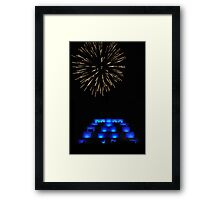 Festival of light- Bendigo Great Stupa Framed Print