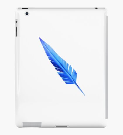 Handcrafted Blue Feather iPad Case/Skin