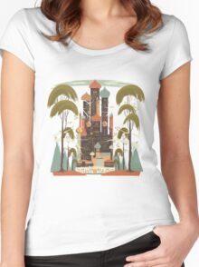 Sunny Oasis Women's Fitted Scoop T-Shirt