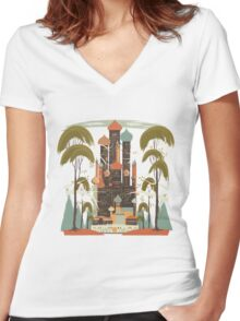 Sunny Oasis Women's Fitted V-Neck T-Shirt