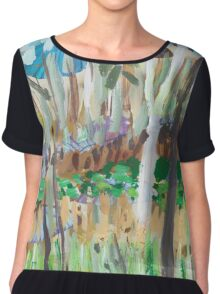 Water Lilies Through the Trees Chiffon Top