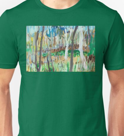 Water Lilies Through the Trees Unisex T-Shirt