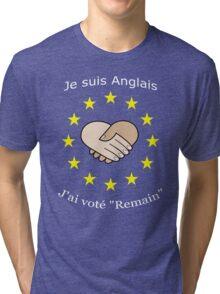 """I'm British - I voted """"Remain"""" - French Tri-blend T-Shirt"""