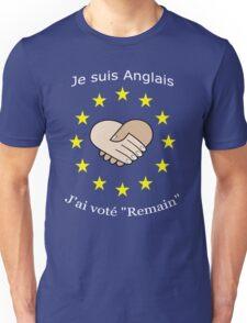 "I'm British - I voted ""Remain"" - French T-Shirt"