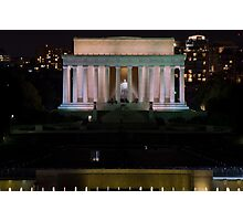 Lincoln Memorial and the World War II Memorial Wall of Stars - Washington D.C. Photographic Print