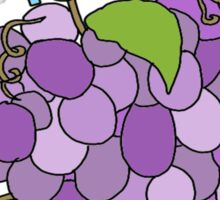 i pick you grape bunch Sticker