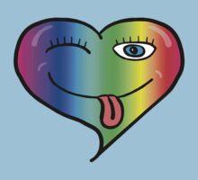 Playful At Heart -  Cute Child's Play - Cheeky - Rainbow Baby Tee