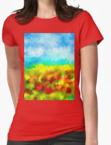 Summer Time Abstract - 1 Womens Fitted T-Shirt