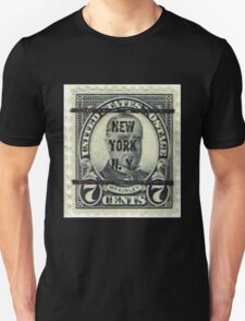 Antique Black NYC Stamp Unisex T-Shirt
