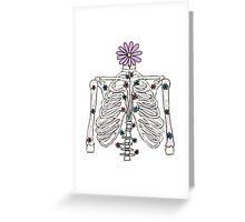 flower skeleton ribcage Greeting Card