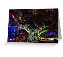 A Tree's Life - Vivid Sydney, Sydney Botanic Gardens.  Greeting Card
