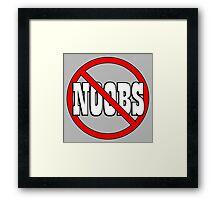 No Noobs - Funny Geek Nerd Gamer PC Master Race Steam Framed Print