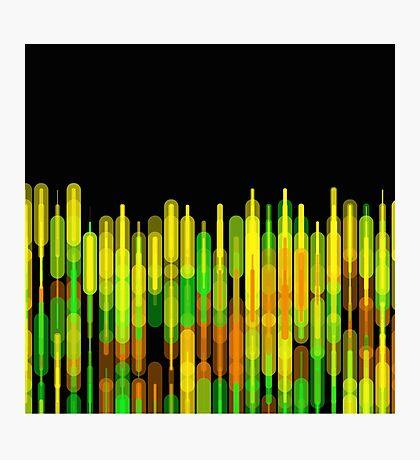 Neon Strobed Light Pattern Photographic Print