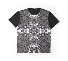 Miniature Aussie Tangle 13 Pattern in Grey and White Variation Graphic T-Shirt