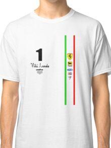 Niki Lauda Ferarri F1 1976 1975 Classic T-Shirt