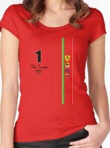 Niki Lauda Ferarri F1 1976 1975 Women's Fitted Scoop T-Shirt