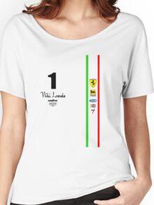 Niki Lauda Ferarri F1 1976 1975 Women's Relaxed Fit T-Shirt