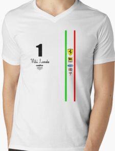 Niki Lauda Ferarri F1 1976 1975 Mens V-Neck T-Shirt