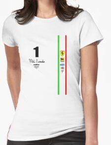 Niki Lauda Ferarri F1 1976 1975 Womens Fitted T-Shirt