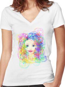 Regina BIV Women's Fitted V-Neck T-Shirt
