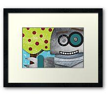 Robots Love Apples Framed Print