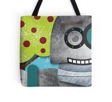 Robots Love Apples Tote Bag
