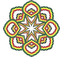 Circle. Green, Yellow and Red. Photographic Print