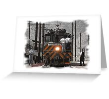 Train Men Greeting Card