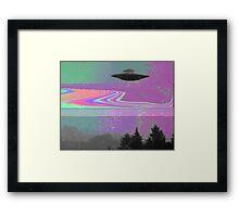 Psychedelic UFO Framed Print