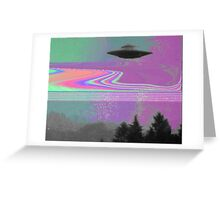 Psychedelic UFO Greeting Card