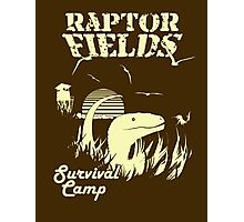 Raptor Fields Survival Camp Photographic Print