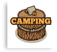 Camping Icon Canvas Print