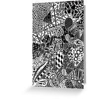 Zentangle drawing Greeting Card
