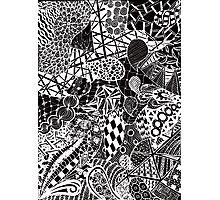 Zentangle drawing Photographic Print