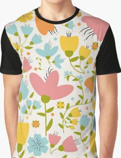 Background Floral Graphic T-Shirt