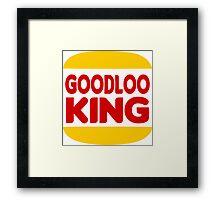 Good Looking: Vintage Burger King Parody Framed Print